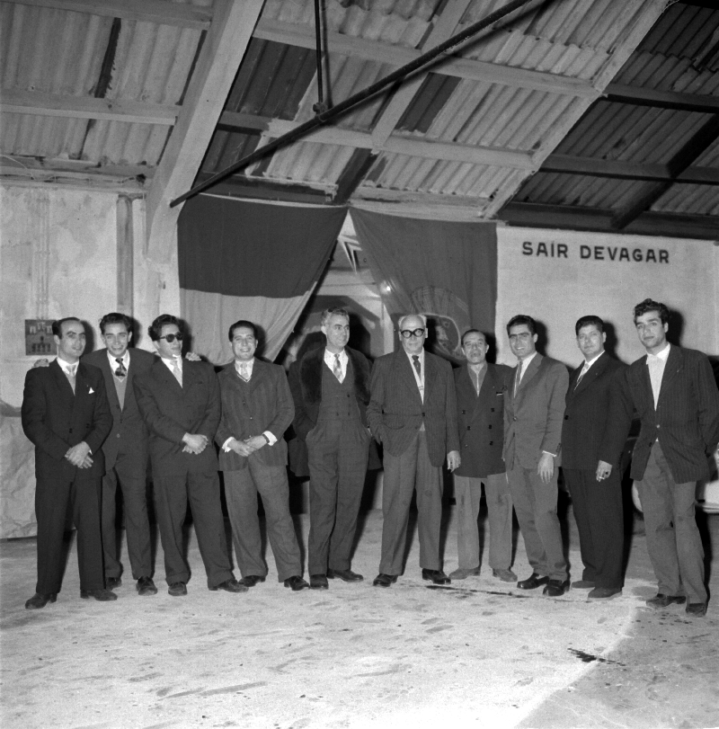Christmas party, Citroen, Portugal, in 1957 [LPB180420140022]