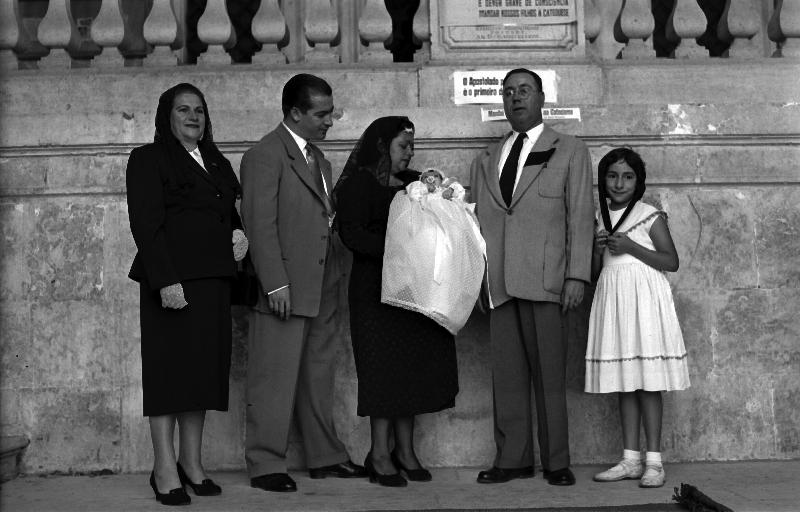 Baptism, Lisbon, Portugal, 1955 [LPB180420140024]
